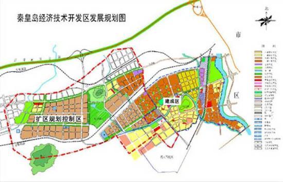 秦皇岛经济技术开发区数谷规划鸟瞰图